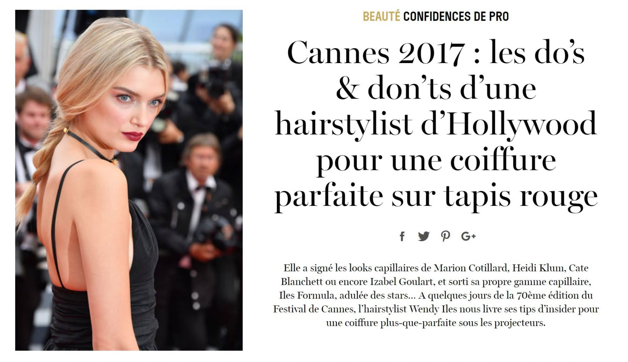 Cannes 2017 Do's & Dont's For Red Carpet Hair