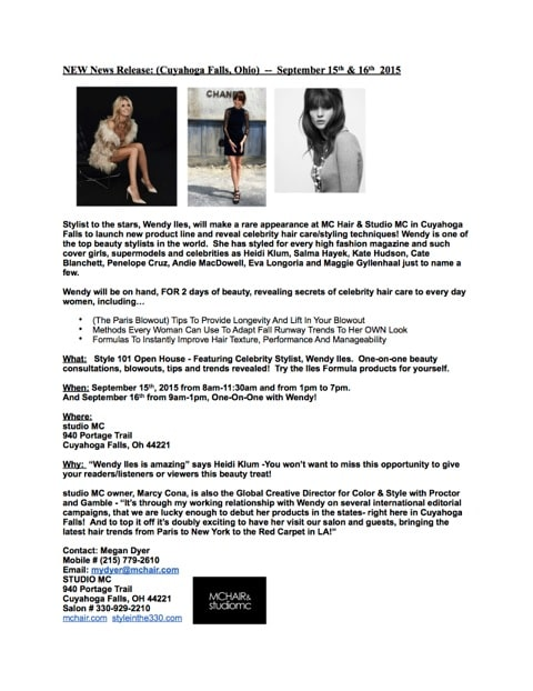 PRESS RELEASE_Wendy Iles Celebrity Stylist copy