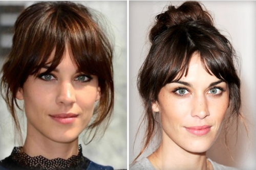 Another of my celebrity clients who wears bangs perfectly is Marion Cottillard. If you're feeling classy, be sure to try this French twist coupled with ...