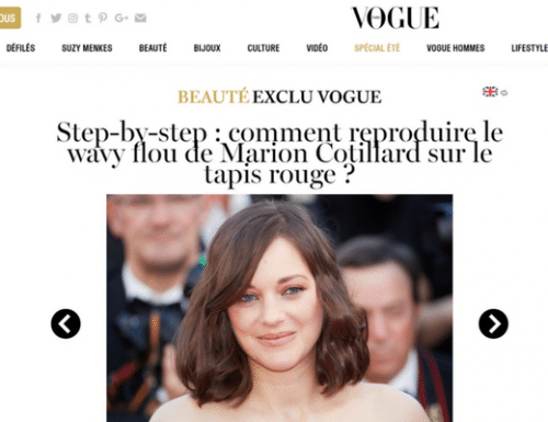 Vogue: Wendy's step-by-step to Marion Cotillard Red Carpet Hair