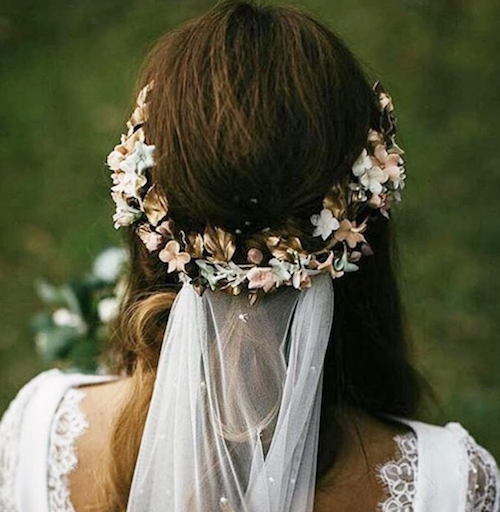 Autumn Fall Wedding Hairstyles And Accessories