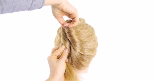 Create This Modern French Roll Hairstyle