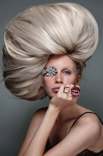 Edgy editorial blonde hairstyle by Denis Perani