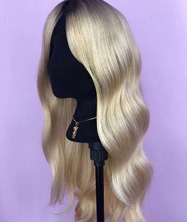 Lustrous shiny Blonde wig by Christian Cartano