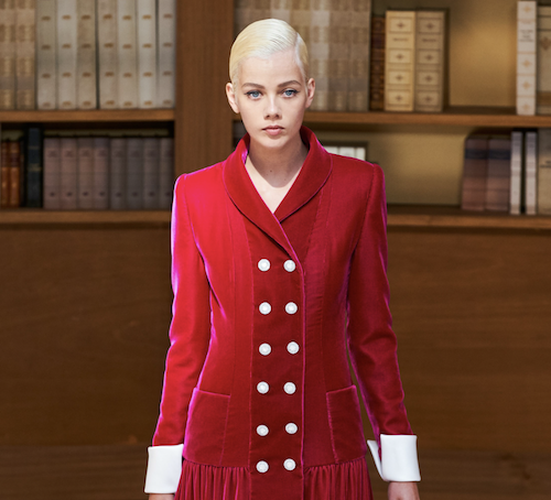 Chanel hair - The Best Hair Of Paris Couture Fashion Week 2019 - fashionable librarians -red suit