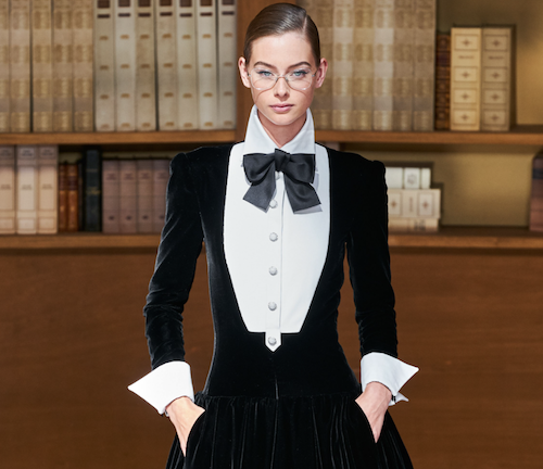 Chanel Hair - The Best Hair Of Paris Couture Fashion Week 2019 - fashionable librarians - black suit