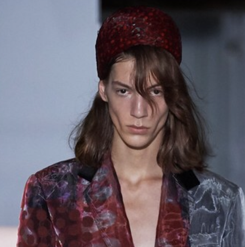 Maison Margiela - The Best Hair of Paris Couture Fashion Week 2019 - no gender hairstyle - brunette