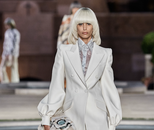 Fendi hair - The Best Hair of Paris Couture Fashion Week 2019 - icy blonde bowl cut - bob hair