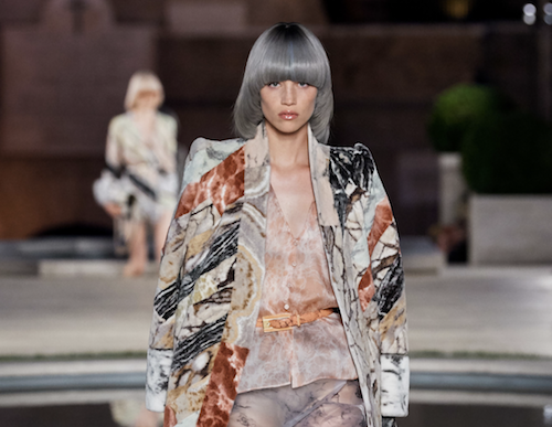 Fendi hair - The Best Hair of Paris Couture Fashion Week 2019 - silver bowl cut - bob hair