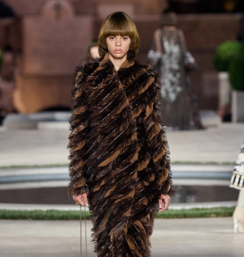 Fendi hair - The Best Hair of Paris Couture Fashion Week 2019 - hazel brown bowl cut - bob hair