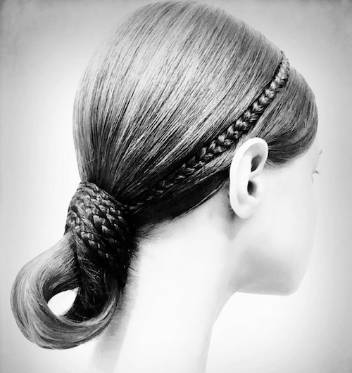 Valentino hair - The Best hair of Paris Couture Fashion Week 2019 Hairstyle - ballerina - hair by Guido Palau