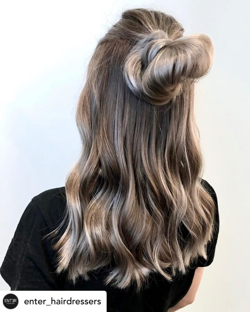 2019 summer hair color trend - mushroom brown hair color - Brunette Ombre with highlights