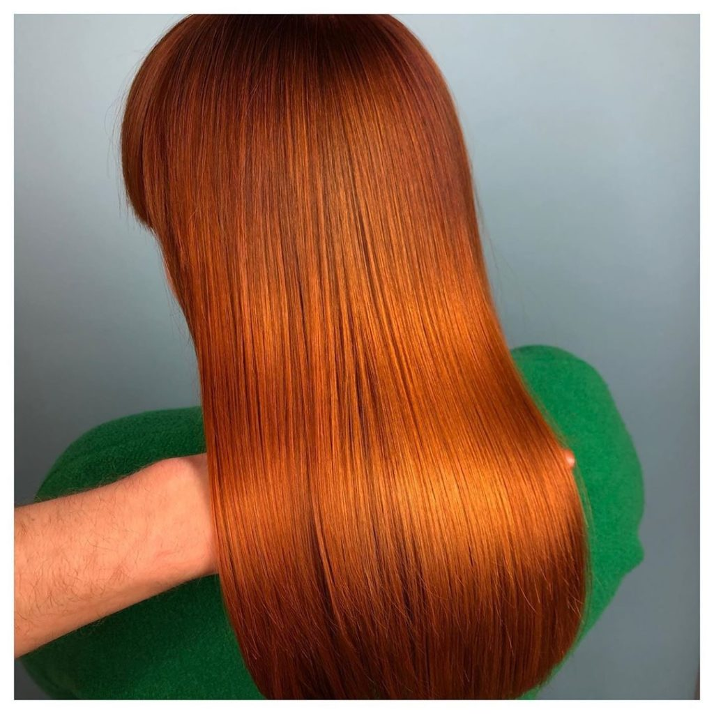 Copper - coppery hair color - red hair color - fall color 2019