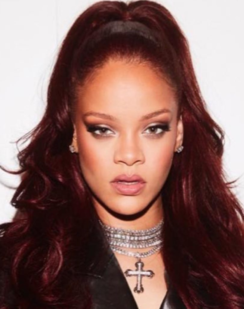 Rihanna - mulled wine - red hair color - fall color 2019 - autumn hair color