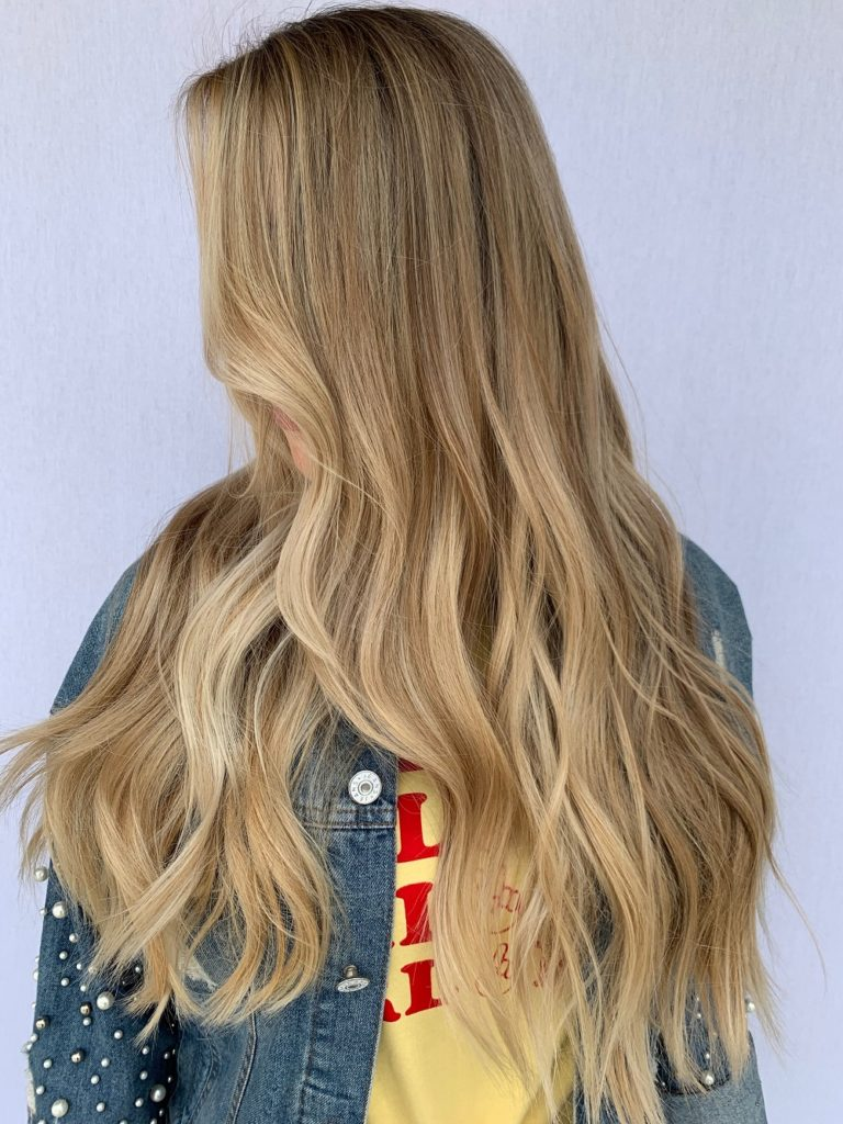 Rachel hair work - hair art - long hair - blonde hair - long wavy blonde