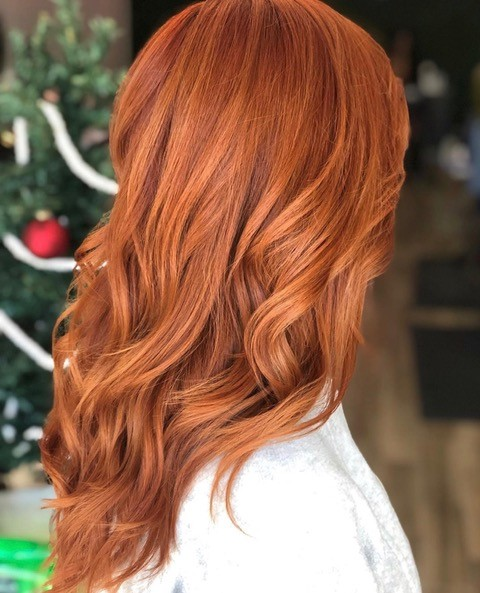 Iles Formula Hair Talk with Michelle Stall from Vibe Salon and Co - hairstylist - hairdresser - hair salon owner - long wavy hair - red hair