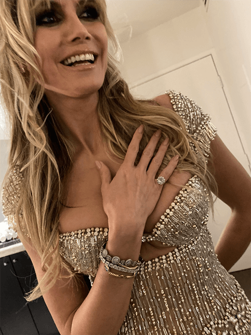 Oscars 2020 - Vanity Fair Party - Heidi Kllum - Red carpet hair 2020 - blonde - Get ready with Heidi Klum at the Oscars, hair coiffed by Wendy using Iles Formula