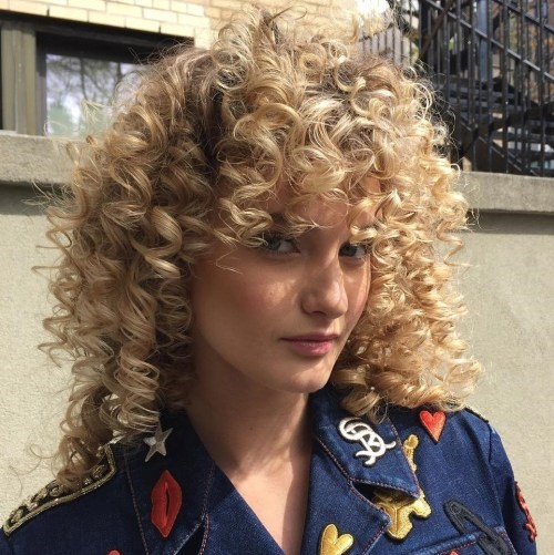 Curly Short Hair With Bangs