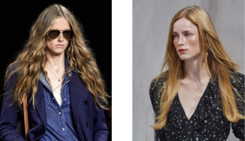 2020 long hairstyles - celine runway 2020